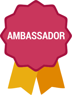 Kickstarter reward_ambassador badge