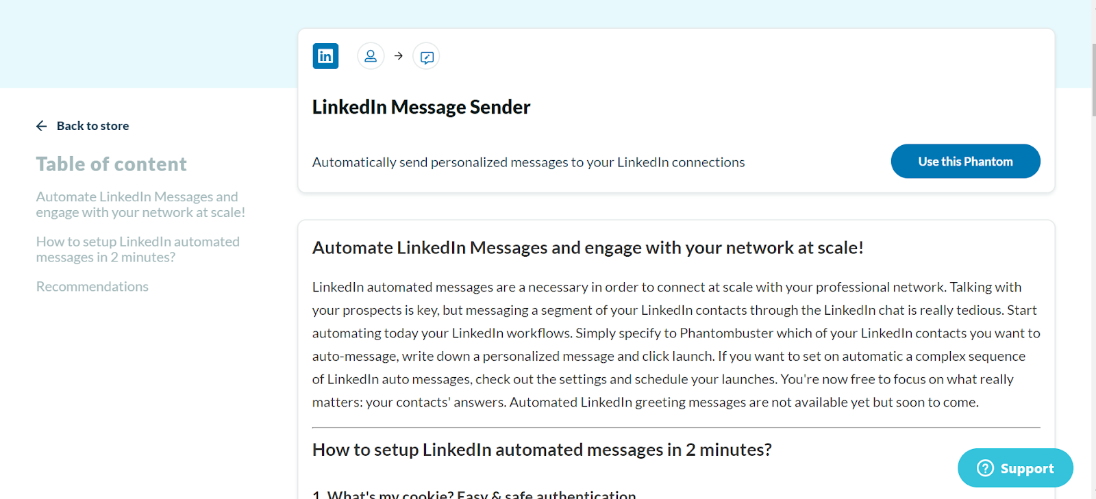 linkedin message sender