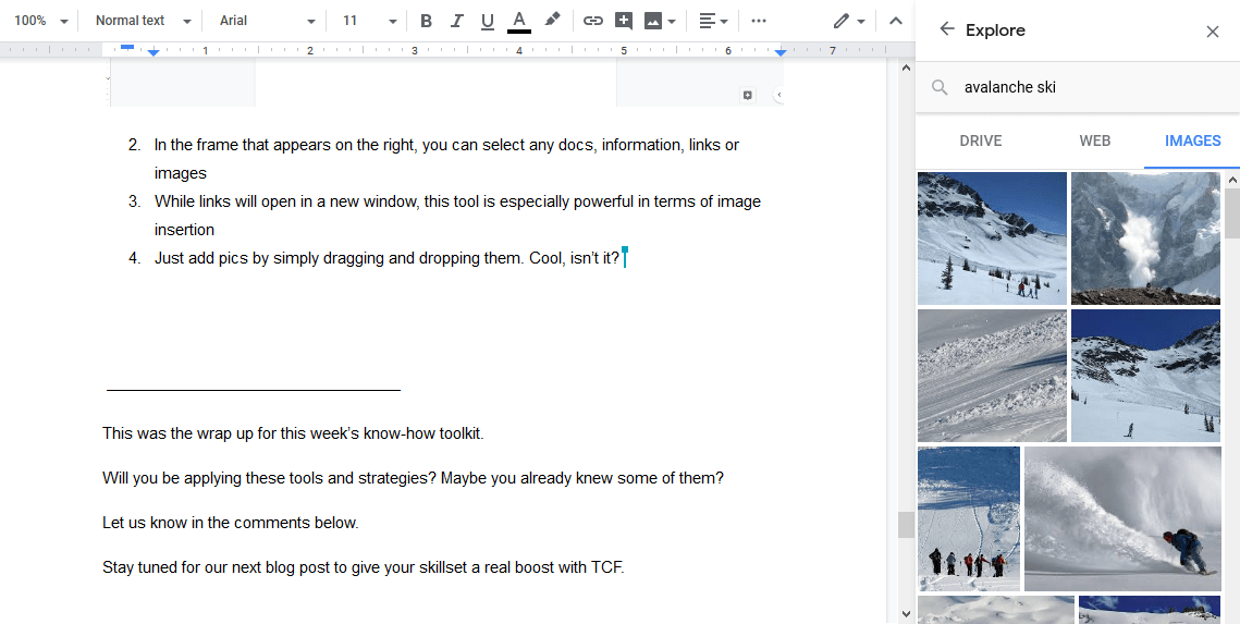 compare two google docs