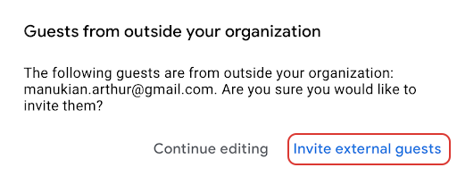 Google Calendar invites