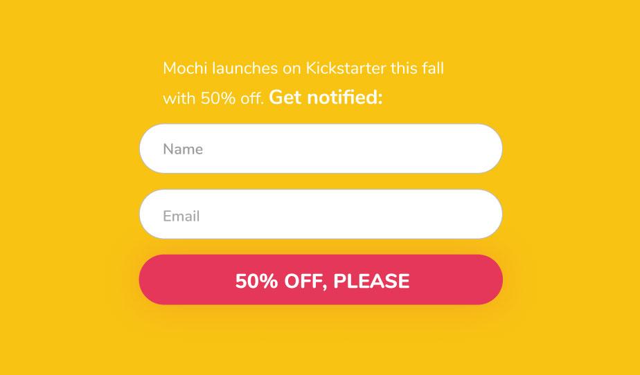 kickstarter-campaign pre-launch landing page