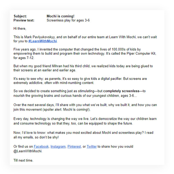 kickstarter campaign email marketing tips
