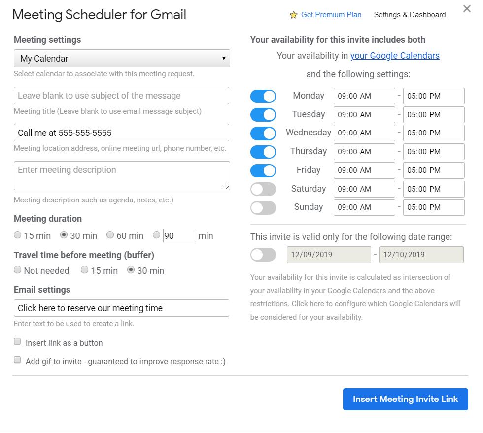 Cloud HQ Meeting Scheduler