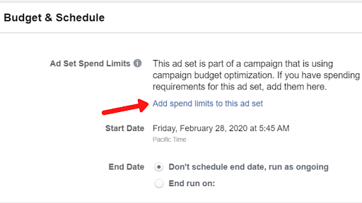 Effectively Test New Audiences With Ad Set Spend Limits