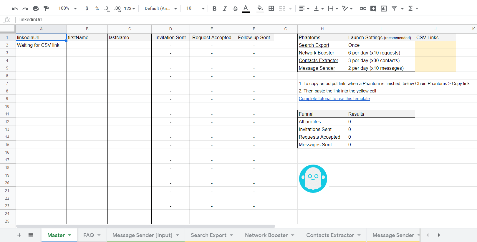 Phantombuster LinkedIn Templates