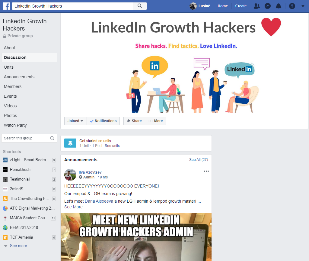 Linkedin growth hackers