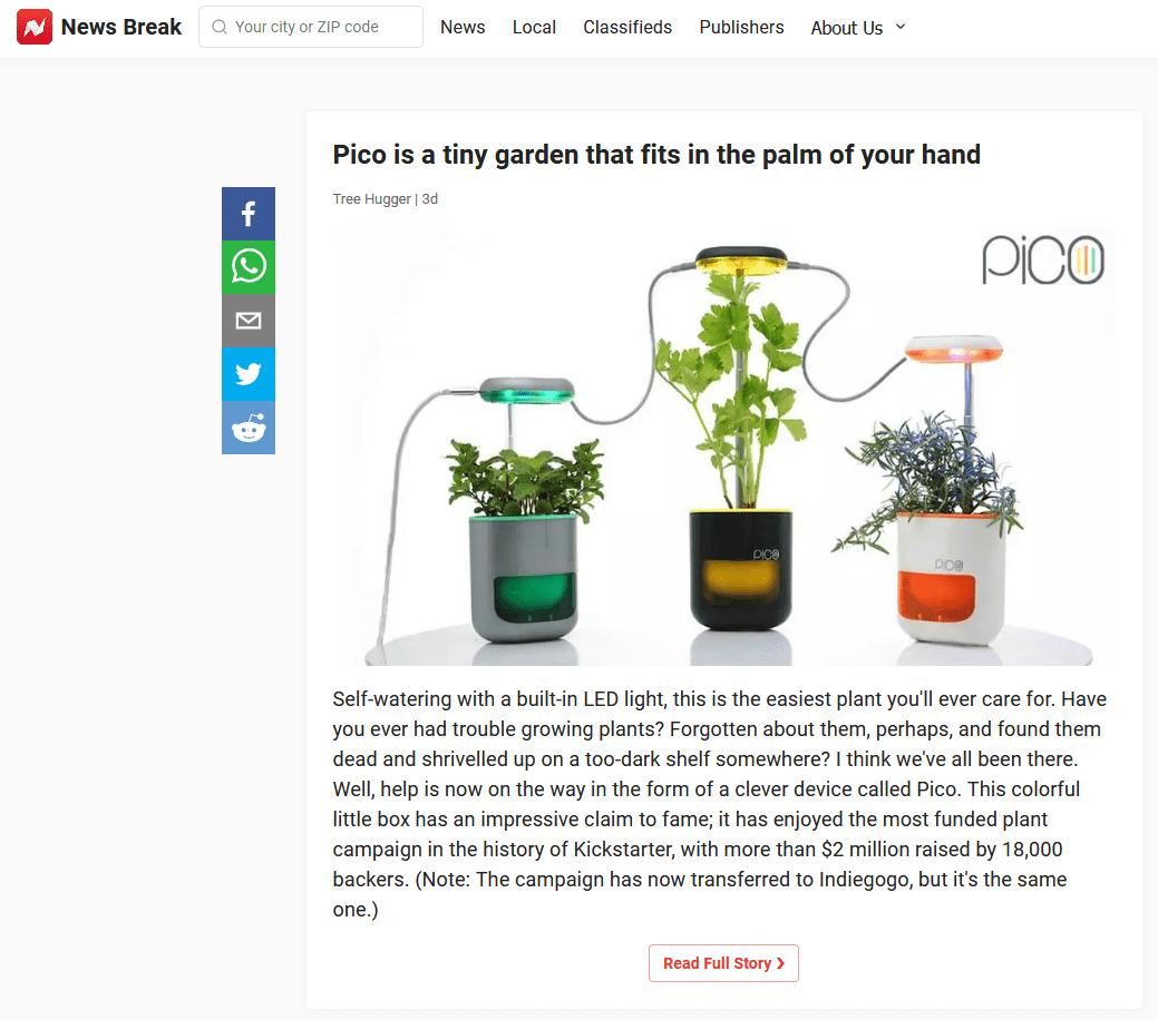 kickstarter success story of pico