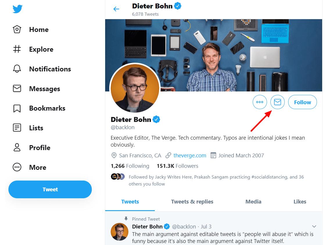 scrape email addresses on Twitter