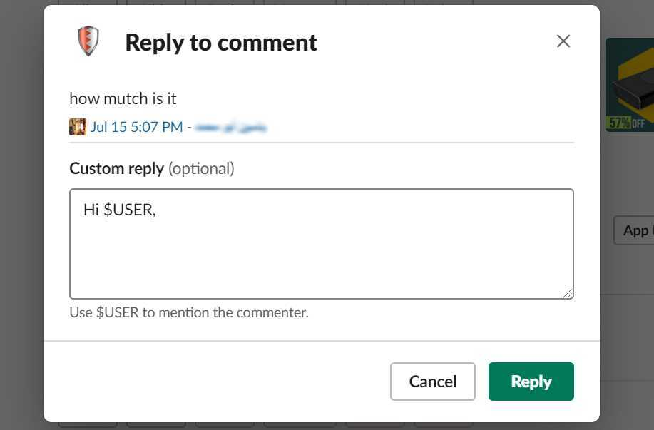 Manage FB comments from Slack