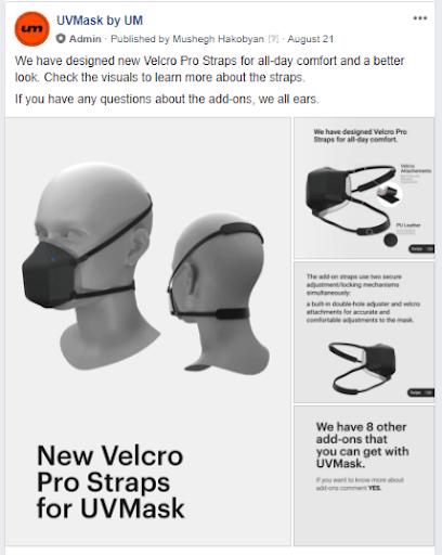 Facebook group UV mask