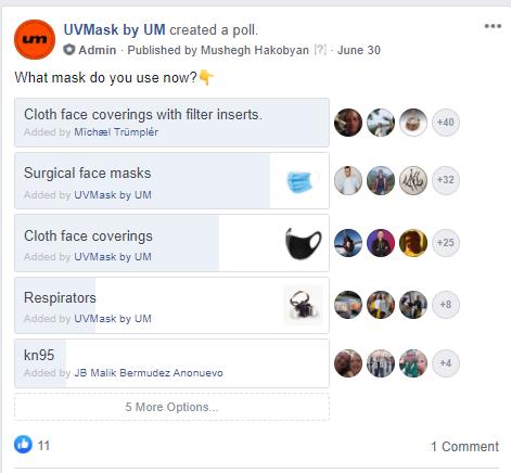 Facebook group marketing UVmask