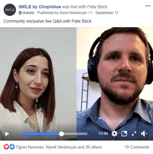 Facebook and Instagram live
