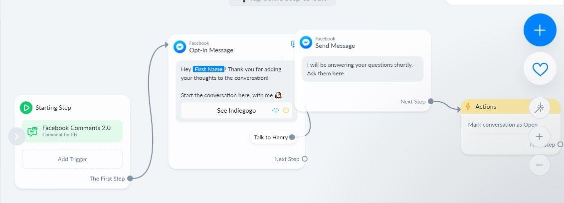 ManyChat comment tool
