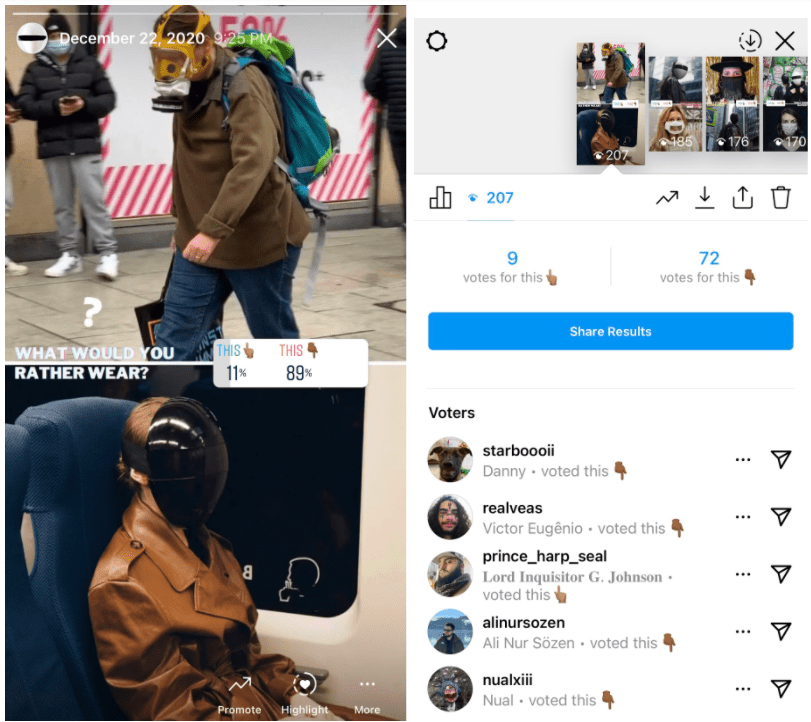 Instagram story idea use stickers