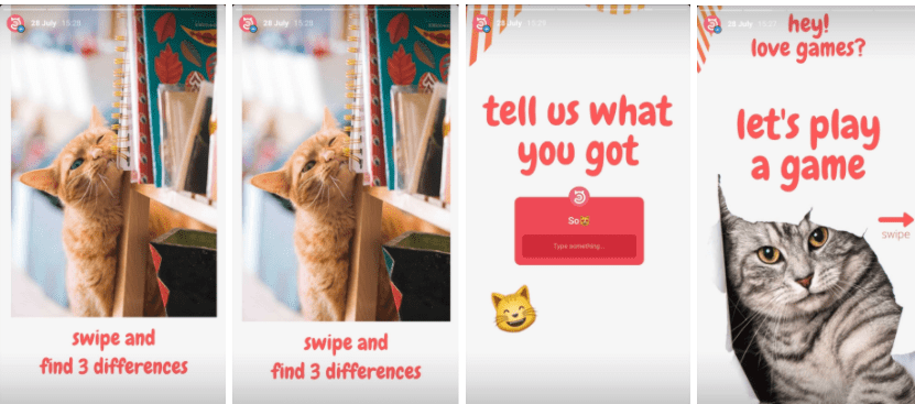 Instagram story idea find diferences