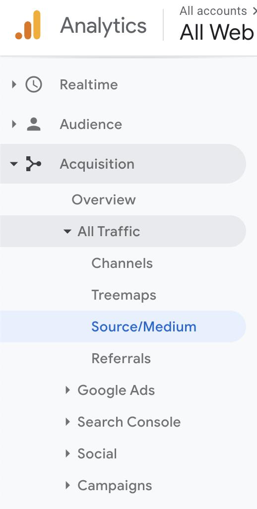 aqcusition google analytics