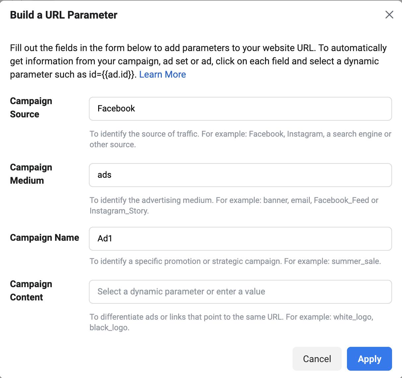 url parameter ads