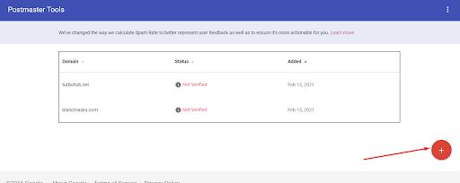 Google_Postmaster Tools