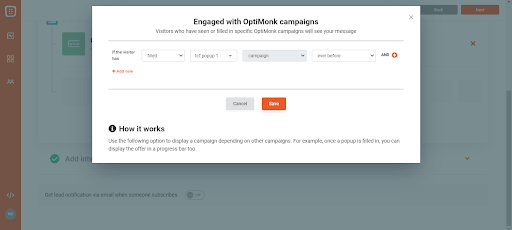 popup_engaged with optimonk campaigns